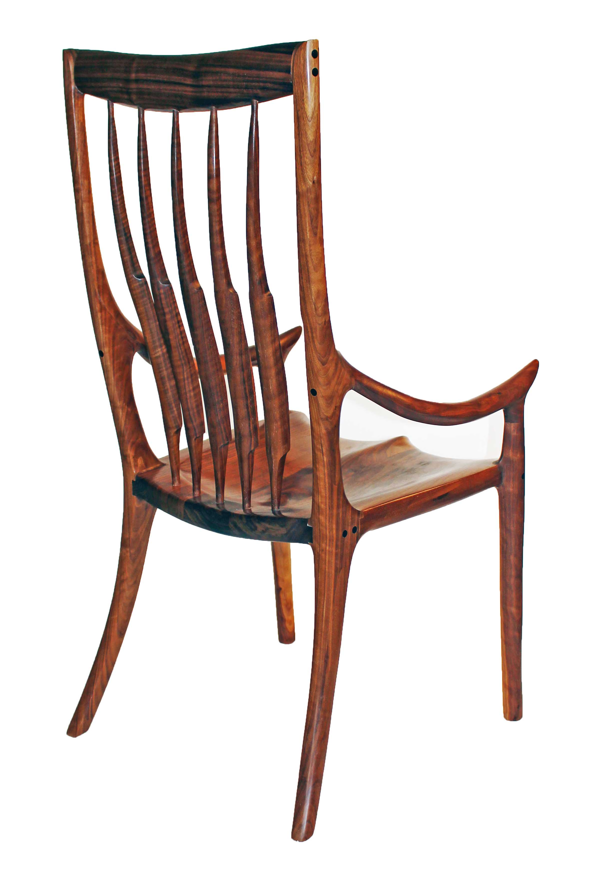 Wooden chairs with armrest - High Back Dining Chair