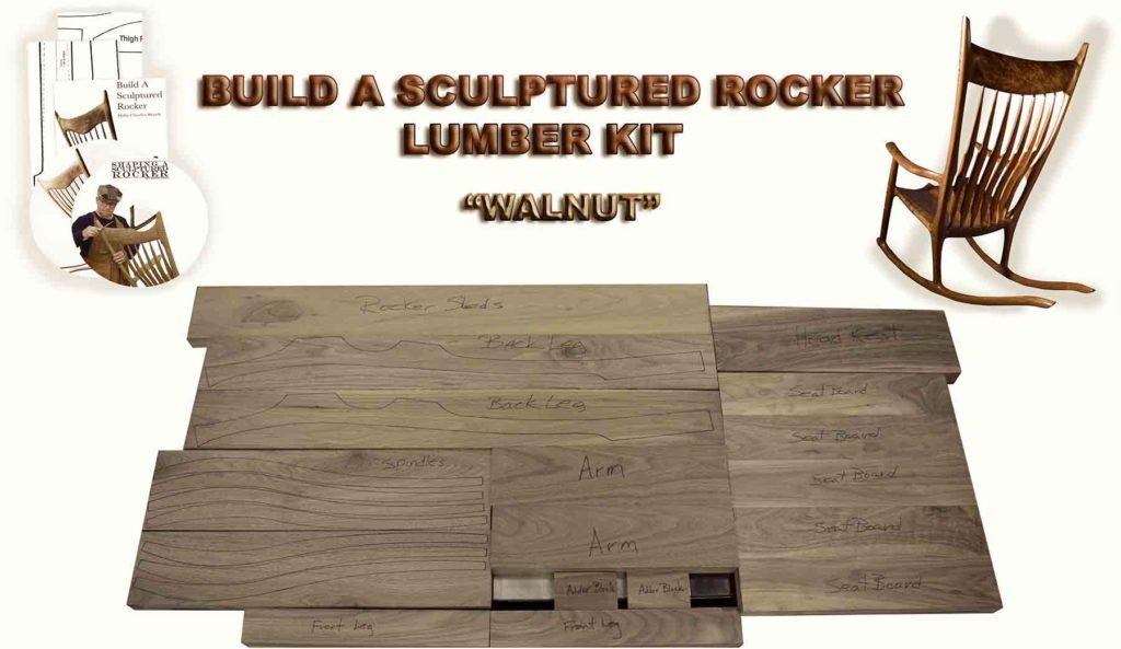 Wondrous Sculptured Rocker Lumber Kit Charles Brock Chairmaker Pdpeps Interior Chair Design Pdpepsorg